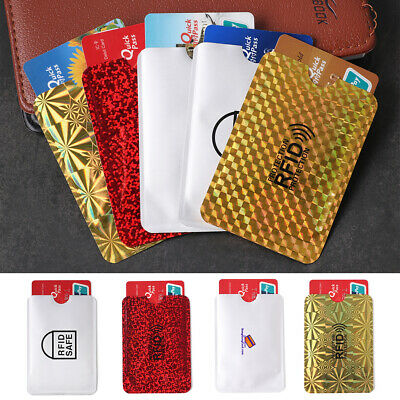 5pcs RFID Blocking Anti-Theft Credit/Debit/Bank Card Protection Sleeve