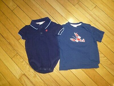 Janie And Jack  Baby Boys Shirt/ One Piece Shirt  Size 6-12 Months Nice Crab