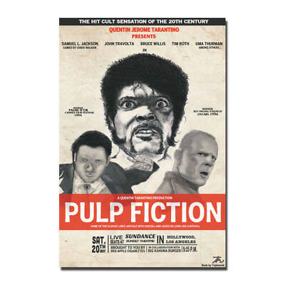 Pulp Fiction 1994 Classic Film Movie Art Silk Canvas Poster 12x18 32x48 inch