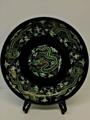Antique Chinese 'Dragon' Charger Plate Kangxi Mark
