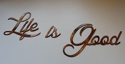 Life Is Good Arte Mural de Metal Adornos Cobre / Acabado en Bronce