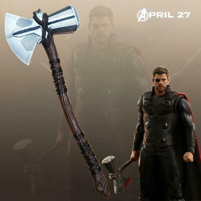 1:1 Scale Marvel Avengers Thor Stormbreaker Axe Weapon Halloween Cosplay Props