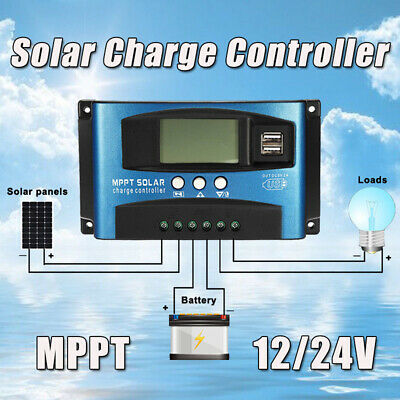 100A MPPT Solar Panel Battery Regulator Charge Controller Auto Focus Tracking