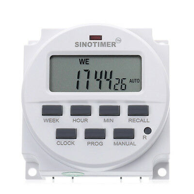 DC 12V 16A Mini Digital LCD Power Weekly Programmable Timer Time Switch Relay