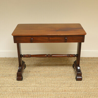 Magnificent Quality Victorian Figured Mahogany Antique Writing Table