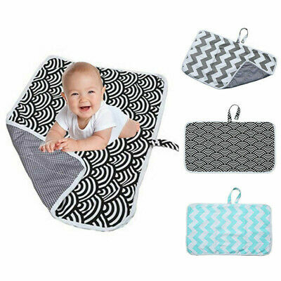 Portable Newborn Baby Foldable Washable Travel Nappy Diaper Play Changing Mat