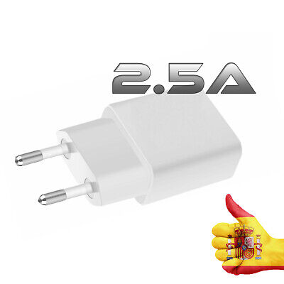 Adaptador Cargador USB Red Blanco Enchufe 2 Amperios Smartphone Blanco moviles