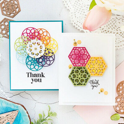 Circle Round Hexagon Metal Cutting Dies DIY Scrapbook Emboss Paper Cards stencil