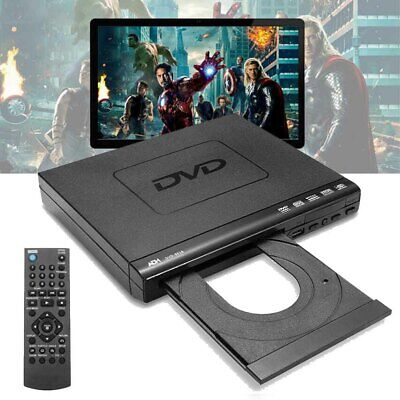 UK 1080P DVD Player Remote Controller Multi-angle Viewing USB DVD-RW + Cable