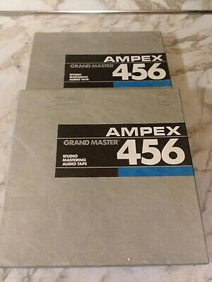 """10.5"""" Ampex 456 GRAND MASTER Reel To Reel 1/4"""" Audio Recording Tapes"""