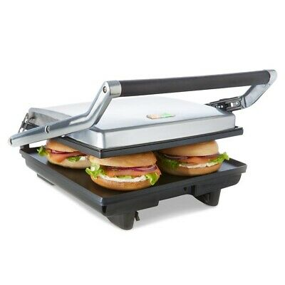 Stainless Steel 4 Slice Nonstick Electric Sandwich Press Flat Plate Grill Toast