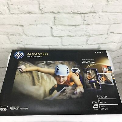Hp Advanced Photo Paper 66 lbs. Glossy 13 x 19 20 Sheets / Pack CR696A