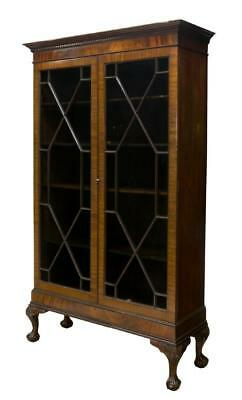 CHIPPENDALE STYLE ASTRAGAL DISPLAY CABINET or Bookcase, early 1900s