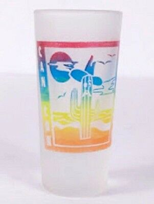 "Cancun Mexico Cactus Desert 3"" Frosted Collectible Shot Glass"