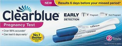 Clearblue Early Detection Pregnancy Test - 2 Test - FAST AND FREE DELIVERY