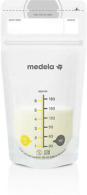 Medela, Breast Milk Storage Bags, Ready To Use, Milk Storage Bags For Bag, Flat