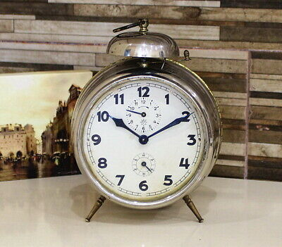 Antique JUNGHANS GERMAN ALARM CLOCK 1920'S GORGEOUS