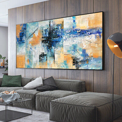 VVV577 Modern Large Hand painted abstract oil painting on canvas  Frameless