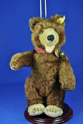 Steiff Teddy Baby, FF-Knopf, Schild rot / FF button, sign red, Vorkrieg pre war