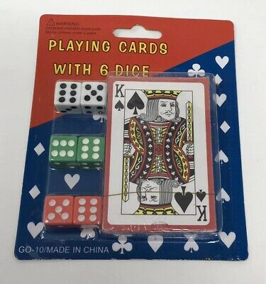 playing Poker Casino cards with 6 dice