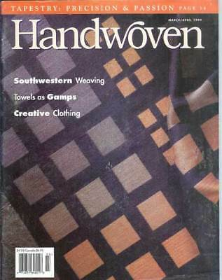 Handwoven magazine March / April 1999 - TOWELS towels TOWELS