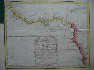 1749 - BELLIN - Map GULF OF GUINEA  SLAVE COAST  ANGOLA