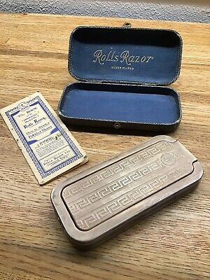 """Vintage Imperial Rolls Razor Silver Plated  """"The Whettler"""" post-1930's F2"""