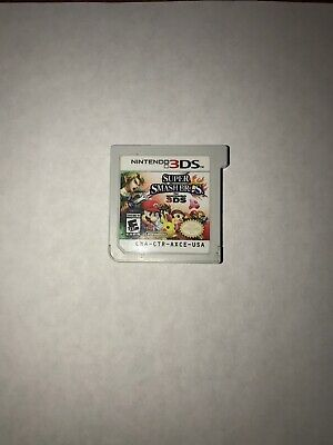 SUPER SMASH BROS 3DS / Cartridge Only / All Characters Unlocked & Except DLC.
