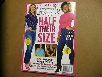 Special Edition PEOPLE Half Their Size 2019 Weight Loss/Menus/Recipes Real Peopl