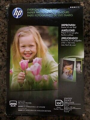 HP CR759A Everyday Glossy Photo Paper - 73 of 100 Sheets remaining 4 x 6 in.