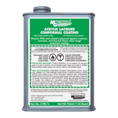 MG Chemicals Acrylic Laquer Conformal Coating, 1L