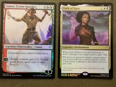 Tyrant Smasher War of the Spark UnCommon Planeswalkers NM. MTG 4x Samut