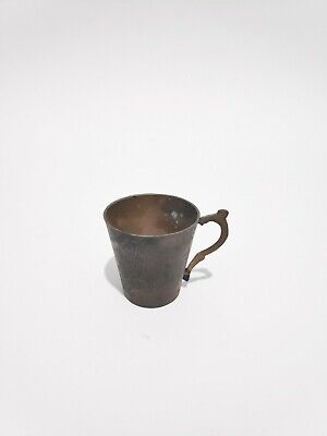 Ancient Egyptian handmade copper cup engraved decoration