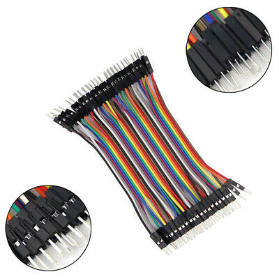 As_ 40 Pin 10Cm Dupont Male To Male Jumper Wire Ribbon Cable For Arduino Breadbo
