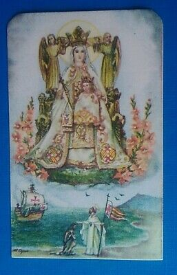 Estampa religiosa antigua NUESTRA SEÑORA DE LA MERCE BARCELONA holy card