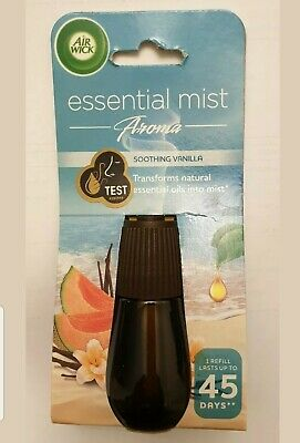 3 X 20Ml New Airwick Essential Mist Soothing Vanilla