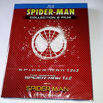 SPIDER-MAN collection 6 film blu ray cofanetto