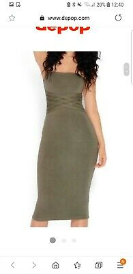 65c0f9b9c0 OH POLLY DRESS Size 8 Green New With Tags - £4.70 | PicClick UK