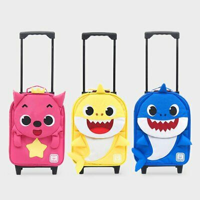 Baby Shark Kids Unisex Travel Luggage Bag Spinner Wheeled Rolling Trolley 13""