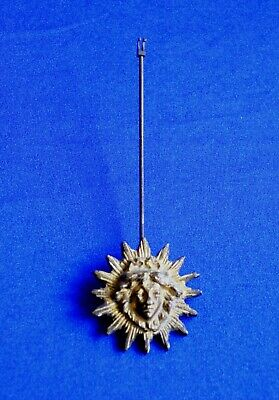 Antique Victorian Gilt Brass Starburst Clock Pendulum