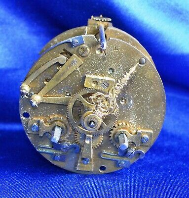 Antique Victorian French Brass Striking Clock Movement Bonnet & Pottier A/F
