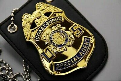 NOVELTY COSPLAY POLICE Badge US Gold Eagle Top Unofficial