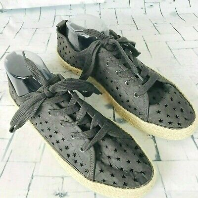ee94be6052a7 Universal Thread Target Die Cut Star Espadrille Sneaker Shoes ~ Size 11 EUC