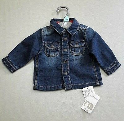 Ex Mothercare 0-3 months baby boys denim shirt Brand New with Tag