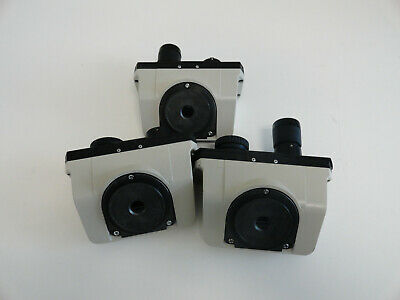 Lot of 3 Nikon Alphaphot Microscope Head with 2 eyepieces