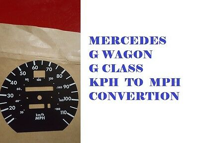 Mercedes G Wagon G Class Speedo Dial Face Km To Mph