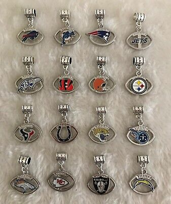 Football NFL Sports Charm AFC European Charms or DYI Project Keychain Bracelet