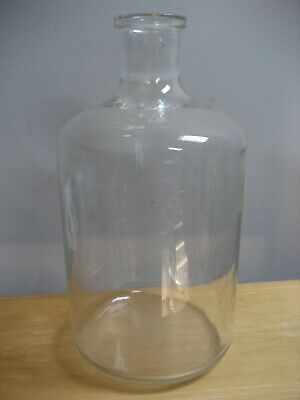 Large Vintage Glass Pyrex Carboy Used Clean Has Wear No Cork