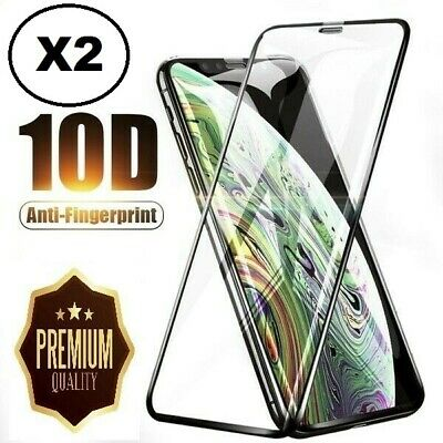 2X iPhone 11 X XS XR XS-Max  9.9D Tempered Glass Full Screen Protector Apple