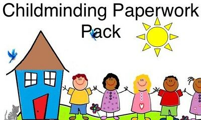 Childminding Paperwork Start Up Forms And Policies  (File Emailed)